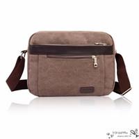 Cheap 2016 Hot Men Black Blue Crossbody Messenger Bags Male Canvas Shoulder Handbags Classical Casual Designer New Traveling Bolsa 5 Colors Zipper