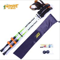 adjustable walking canes - Carbon Fiber nordic walking stick outdoor Camping Hiking Skiing sport bastones trekking poles Ultra light Adjustable cane senderismo