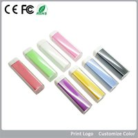 Wholesale 2600mAh Lipstick Power Bank External Battery Back Up Charger for iphone S C S Samsung S4 S3 Mobile Phone Various Colors