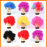 Wholesale hot selling Cosplay Fans wig festival party wigs Afro style wigs Clown Wig multicolor Wind W110 from China