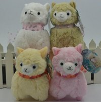 alpaca plush - Newest Japanese Arpakasso Alpaca Amuse Genuine Sheep plush toy alpaca with tags high Doll colors Toy cm plush doll toy