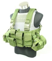 Wholesale TMC Tactical Vest LBT style LBT A Chest Rig GREEN Combat Vest