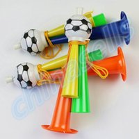 Wholesale Colorful Three Tubes cheering High pitched Voice Horns soccer football horn Party Carnival Sports Games Noice makers