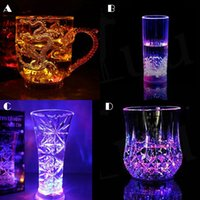Wholesale 2016 LED Flashing Acrylic Cup Beer Drink Cup ml for Party Bar Use