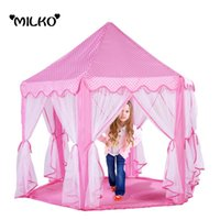 best playpens - Kids Portable Six Angle Princess Castle Play Tents Gift Toy Game House Tent Teepee Baby Playpens Marquee Anti Mosquito Best Gift