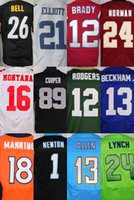 bell names - Customized rugby football jerseys BELL COOPER ELLIOTT BRADY BECKHAM JR MONTANA Size XL any name any number
