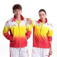 badminton coat - Autumn And Winter Badminton Clothes Male female Long Sleeved Sportswear Wind Coat Badminton Team Training Suit