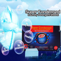 Wholesale Super Condensed Laundry Detergent Sheets with Germany Nano Technology no phosphor no harmful chemicals OEM Order set