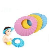 Wholesale Adjustable Shower cap protect Shampoo for baby health Bathing bath waterproof caps hat child kid children Wash Hair Shield Hat JF