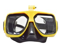 Wholesale Adult Waterproof Swimming Diving Mask Snorkel Goggles Glasses For Gopro Hero SJ5000 SJ4000 Action Camera