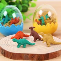 Wholesale Cute Cartoon Crocodile Eraser Rubber Eraser Dinosaur Egg for Kids School Supplies Stationery toys Correction Products