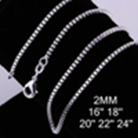 animal jewelry box - C09 new popular hot sale promotion solid sterling silver jewelry mm pc necklace fine silver box chain necklace for women