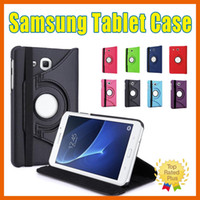 Cheap Samsung Tablet Tab 4 A E S 360 Rotating PU Leather Protective Case Cover For T560 P5200 N800 7 8.9 inch iPad