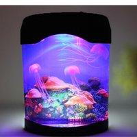 artificial aquarium light - Novelty LED Artificial Jellyfish Aquarium Lighting Fish Tank Night Light Dropshipping