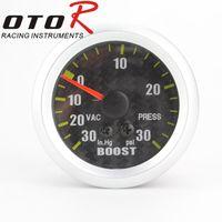 Wholesale mm Psi Turbo Boost Gauge Meter WIth Sensor Machinery Psi mm Carbon Fiber Face Car Turbo Boost Meter Auto Gauge Turbo Boost