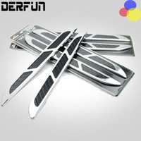 Wholesale 2Pcs Pair Universal ABS Chrome Car Styling Stickers Simulation Vents Decorative Shark Gills Outlet Side Vents Car Accessories