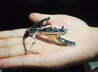 Wholesale mini crossbow Hunting bow arrow Have fun shooting stuff Stainless Powerful Slingshot Toy Model archery