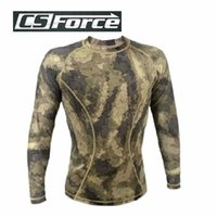 Wholesale Men Army Combat Tactical Military Tight Tops Long Sleeve Shirt Hunting Clothes Outdoor Sports Camping Hiking Shirts S XL