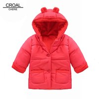 baby bear designer clothing - Winter Baby Snowsuit Warm Jackets Coats Girls Designer Baby Clothes Branded Velvet Cute Bear Ear Overall Newborn Outerwear