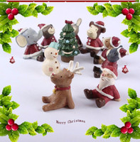 antique decorative items - 10 Pc Set New Christmas Decoration Accessories Cute Resine Animal Decorative Items Nice Christmas Gift for Kids