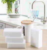 Wholesale 100pcs Multi function Magic Melamine Sponge Eraser Cleaner Household Cleaning Sponges Tools Kitchen Bathroom x60x20mm Scouring Pads