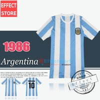 argentina national - Retro Version tops World Cup Argentina national team home Soccer jerseys Messi Maradona Top Thailand Quality Football Shirts