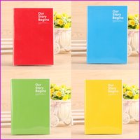 Wholesale A5 Size Softcover Notebook Journal Diary Notepads Red Yellow Blue Green Color Ruled Notebooks Sheets cm quot x quot
