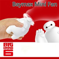 Wholesale price Handheld cartoon Mini Fan USB Baymax figure fan portable cartoon charging fan for kids travel toys