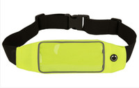 Wholesale Outdoor running sports riding waist pocket mobile phone window can touch screen