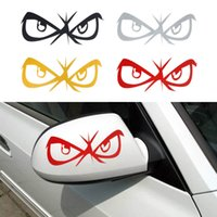 Wholesale 2 New Hot DIY Fashion Eyes Design D Cartoon Decoration Sticker For Car Side Mirror Rearview