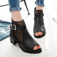 Wholesale 2016 new summer fish mouth with coarse with female tennis shoes and sandals breathable sexy female high heeled boots cool Rome