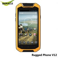 оптовых mtk6589t-оригинальный V12 IP67 прочный смартфон MTK6589T Quad Core 4,5-дюймовый HD Android 4.2 8MP телефон 2500mAh