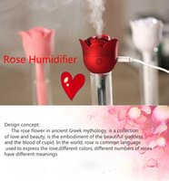 best evaporative humidifier - Rose humidifier Mute USB aromatherapy air purification bottle Household mini humidifier the best gift for lover