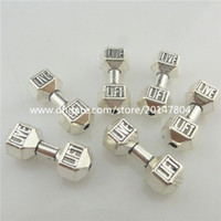 Wholesale 19581 Vintage Silver Live Lift Barbell Weight Sport Spacer Beads for Bracelet