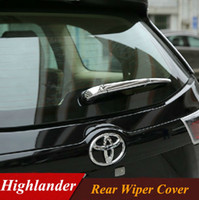 Wholesale 2015 Toyota Highlander Rear Wiper Cover ABS Chrome Rear Window Wiper Cover Trim Exterior Car Styling Accessories set