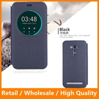 auto customizing - Smart View Auto Sleep Wake Flip Leather Case for ASUS Zenfone Laser ZE500KL ZE500KG Asus Zenfone Cases