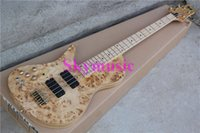 Wholesale New arrived white ashwood bass original bass neck go all the way through the body great left hand bass