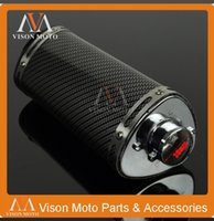 Wholesale 38mm Carbon fiber Color Exhaust Muffler With DB Killer for Motorcycle Scooter Dirt Pit Bike ATV