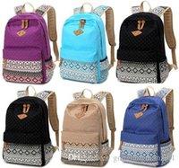 Wholesale 2016 Women Girl Canvas Shoulder School Bag Backpack Travel Satchel Rucksack Handbag
