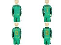 Wholesale NEW Youth Kids soccer Jersey TER STEGEN Cillessen Goalkeeper Long Sleeve Uniforms Kit Light Green Jerseys