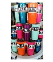 Mexican beer mug lights - YETI Tumbler Rambler Cups Large Capacity Stainless Steel Pink Blue Light Blue Orange Purple Light Green Beer Mugs
