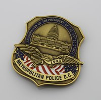 Wholesale Replica police cop metal badge high quality inauguation of the president of US METROPOLITAN badges and patches collection