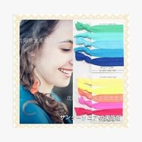 Wholesale Interchangeable Chevron Hair Tie Ponytail Holders Stretchy Elastic Headbands Knitted Ties Assorted Rainbow Set Hair Accessory