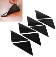 Wholesale RUGGIES Rug Grippers Stick Triangle Anti Slip PU Mats Powerful Silica Gel Strong Magic Pad for Rug