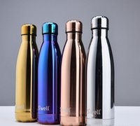 Wholesale DHL Swell Bottles Colorful Stainless Steel Starbucks Water Bottle with Lids Double Walled Vacuum Insulated ML Cola Shaped Cups VS YETI
