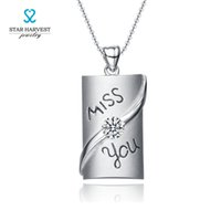 american unisex names - STARHARVEST Meaningful Engraved Sterling Silver Name Necklaces miss you pandent