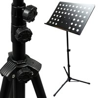 Wholesale Black Music Conductor Stand Adjustable Metal Sheet Tripod Holder Folding Stage