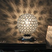 Wholesale Modern K9 Crystal Table Lamp Bedside Living Room Office Lampshade Decoration Lighting E27 table light AC85 V