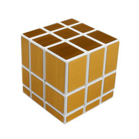 Wholesale New Magic Cube x3x3 ShengShou Mirror Stickerless Speed Puzzle Gold amp Silver Cubo Magico Profissional Learning amp Education