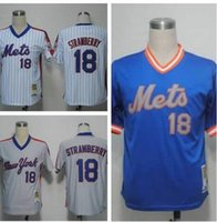 Wholesale High Quality New York Mets Darryl Strawberry Jersey White Stitched Mens Vintage Throwback Baseball Jerseys